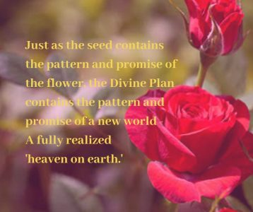 Plan divine contains pattern promise new world heaven realized on earth