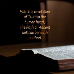 With revelation truth in human heart Path Ascent unfolds