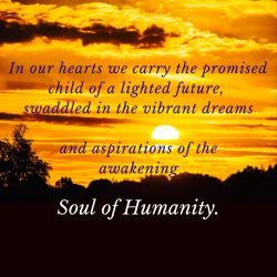 Carry child of lighted future in our hearts