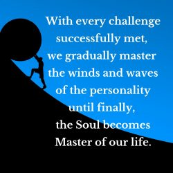 Gradually master personality become Master of life