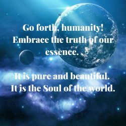Humanty embrace essence soul of world beautiful