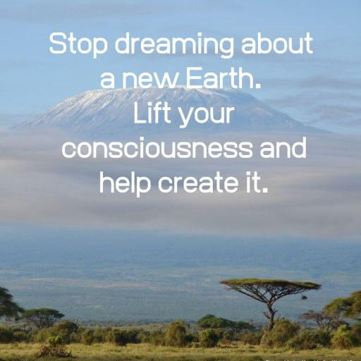 Stop dreaming about a new Earth. Lift your consciousness and help create it.