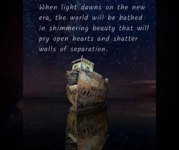Light dawn new era beauty open hearts