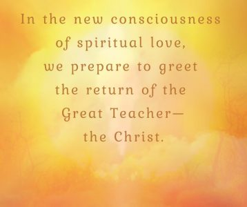 New consciousness prepare greet Great Teacher Christ