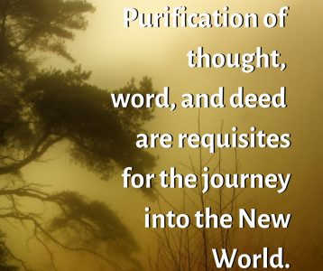 Purity thought word deed requisites new world