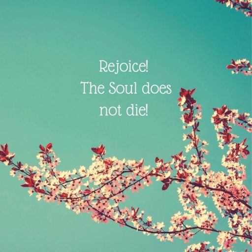 Rejoice! The Soul does not die!