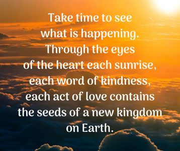 See what is happening through heart new kingdom on Earth
