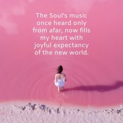 Soul music heart joy expectancy new world