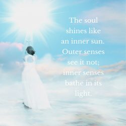 Soul shines inner sun inner senses light