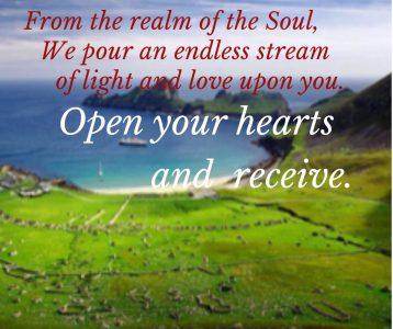 Soul world light stream endless open hearts receive