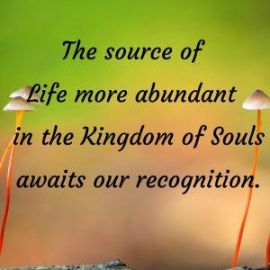 Source Life more abundant Recognition awaits