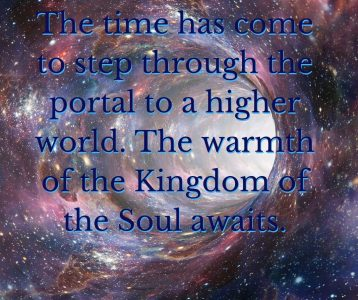 Step through portal enter Kingdom of soul