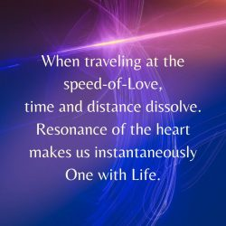 Traveling at speed of Love time distance dissolve