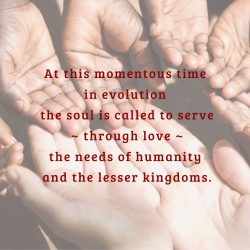 Soul called to love humanity needs