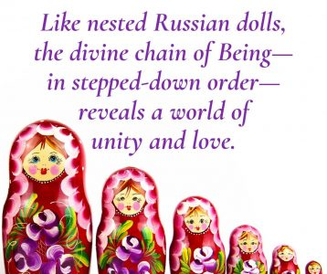 Russian dolls chain of Being unity love