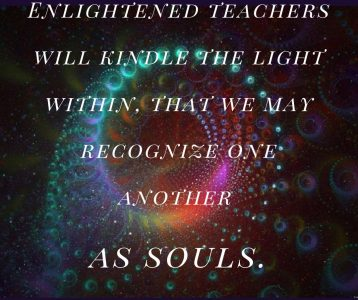 Enlightened Teachers kindle light recognize