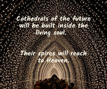 Cathedrals future living soul spires reach Heaven