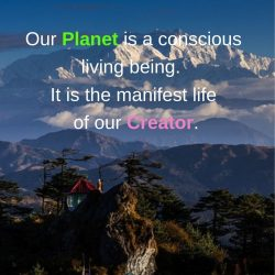 Planet conscious living being our Creator