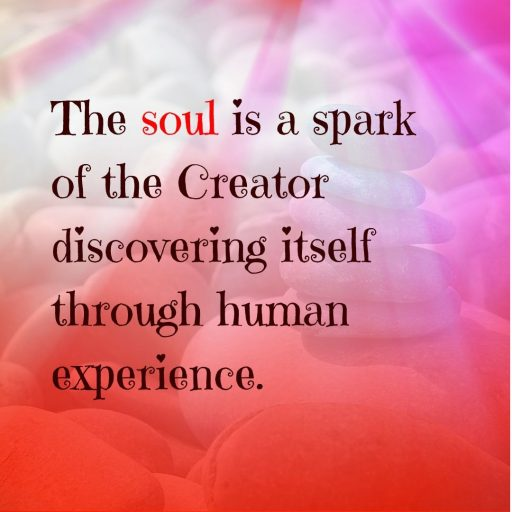 The soul is a spark of the Creator discovering itself through human experience.