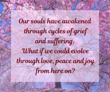 Souls awakened cycles grief what  if love joy here on