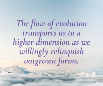 The flow of evolution transports us to a higher dimension