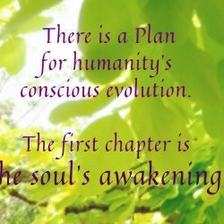 There is a Plan for conscious evolution