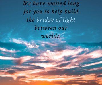 Waiting build bridge light world