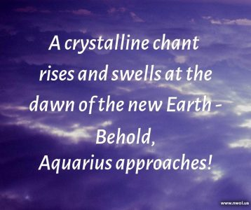 A crystalline chant rises and swells at the dawn of the new Earth