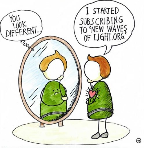 You Look Different - I started subscribing to New Waves of Light.org