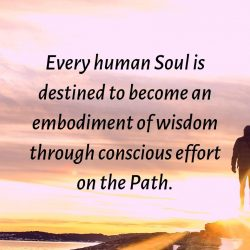 Every human Soul is destined to become an embodiment of wisdom