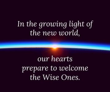 In the growing light of the new world our hearts prepare