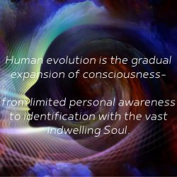 Human evolution is the gradual expansion of consciousness