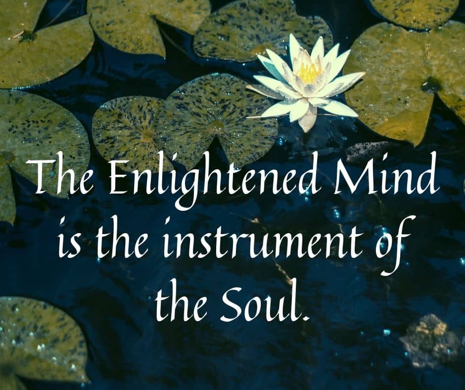 The Enlightened Mind is the instrument of the Soul.