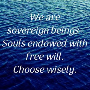 We are sovereign beings