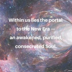 Within us lies the portal to the New Era