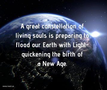 A great constellation of living souls is preparing to flood our Earth with Light