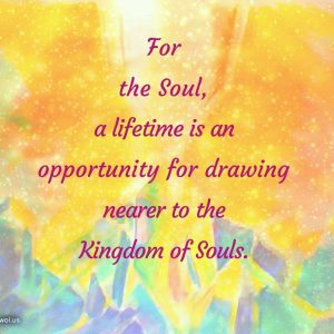 For the Soul a lifetime is an opportunity