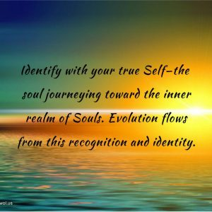 Identify with your true Self the soul