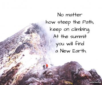 No matter how steep the Path keep on climbing