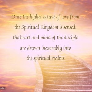 Once the higher octave of love from the Spiritual Kingdom is sensed