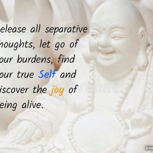 Release all separative thoughts let go of your burdens
