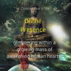 The Coming One is the Divine Presence glimmering within