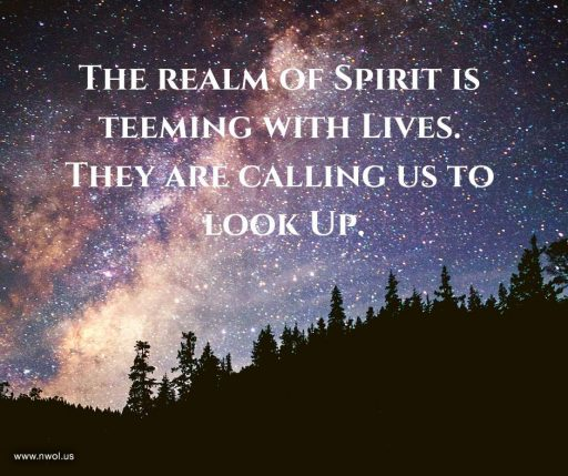 The realm of Spirit is teeming with Lives. They are calling us to look Up.