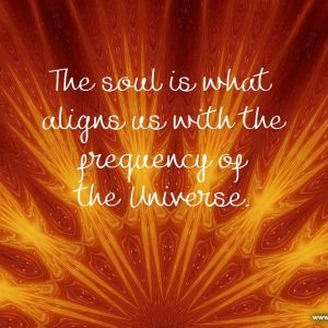 The soul is what aligns us with the frequency of the Universe
