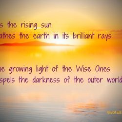 As the rising sun bathes the earth in its brilliant rays