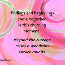Endings and beginnings come together in this churning moment