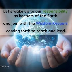 Let us wake up to our responsibility as keepers of the Earth