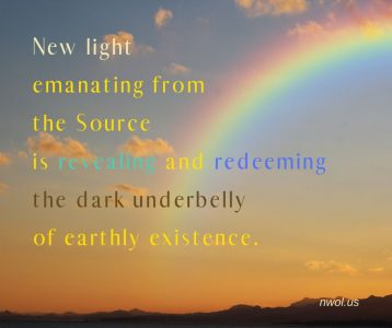 New light emanating from the Source
