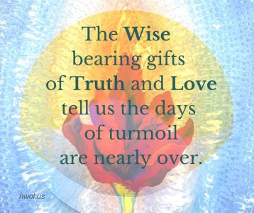 The Wise bearing gifts of Truth and Love