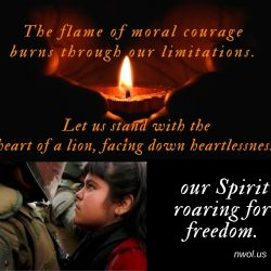 The flame of moral courage burns right through our limitations